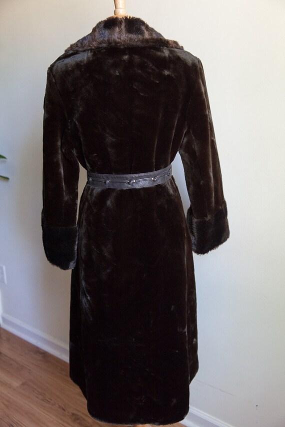 70s vintage faux fur coat, vintage faux fur coat,… - image 5