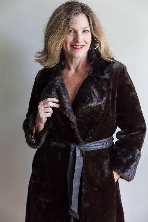 70s vintage faux fur coat, vintage faux fur coat,… - image 2