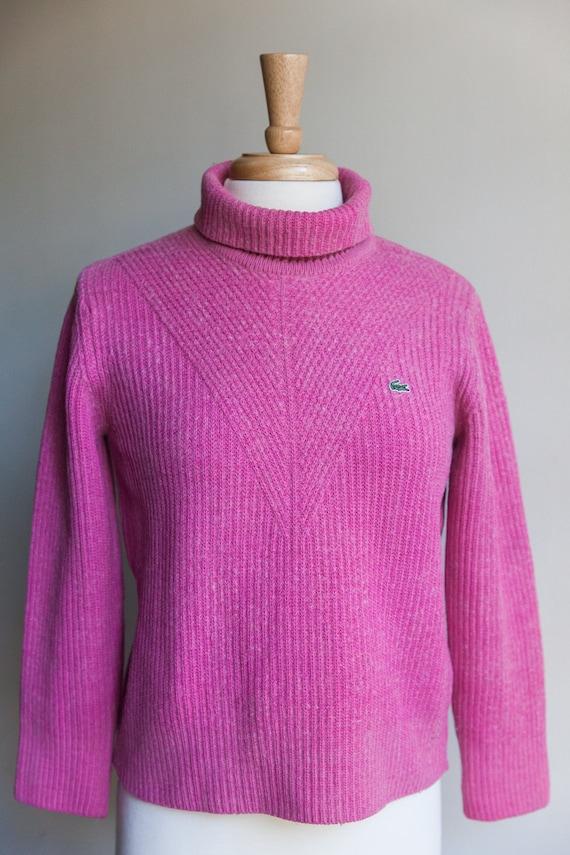 80s vintage Lacoste sweater, 80s izod sweater, vin