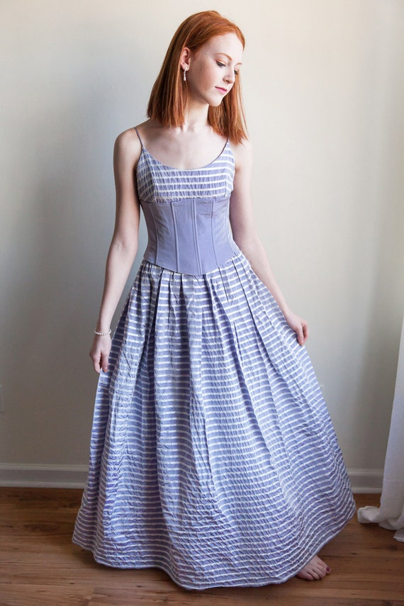 Vintage 1980s Gunne Sax corset dress, Gunne Sax, v