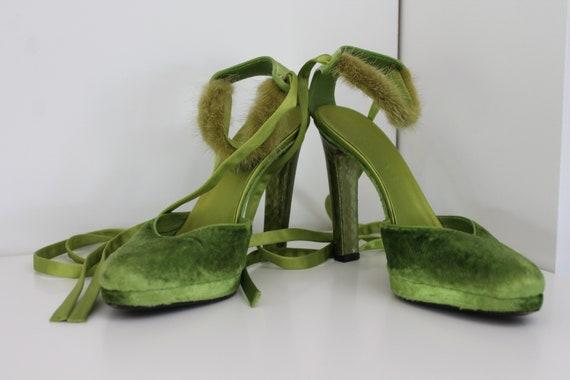 RARE! Moss green Gucci pumps A/W 2004 Tom Ford las