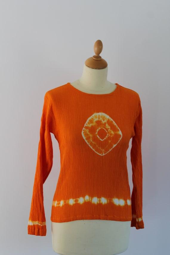 Orange hippie-like T-shirt