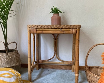 Rattan Nightstand Or End Table