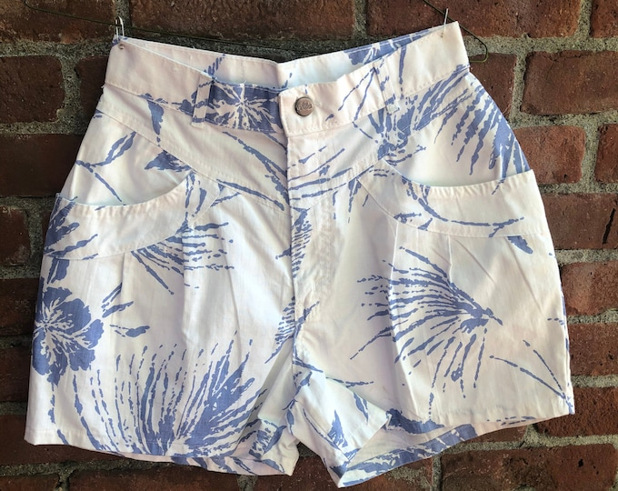 Vintage Early 1980's Sunset Blues by Chic Jeans High-Waist Shorts