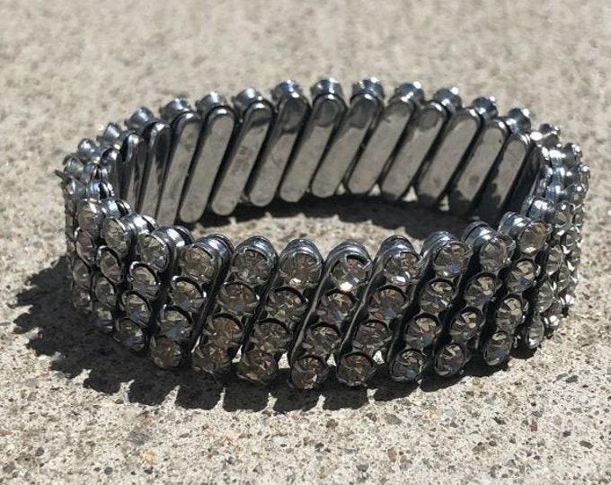 Vintage 1950's Rhinestone Stretch Bracelet