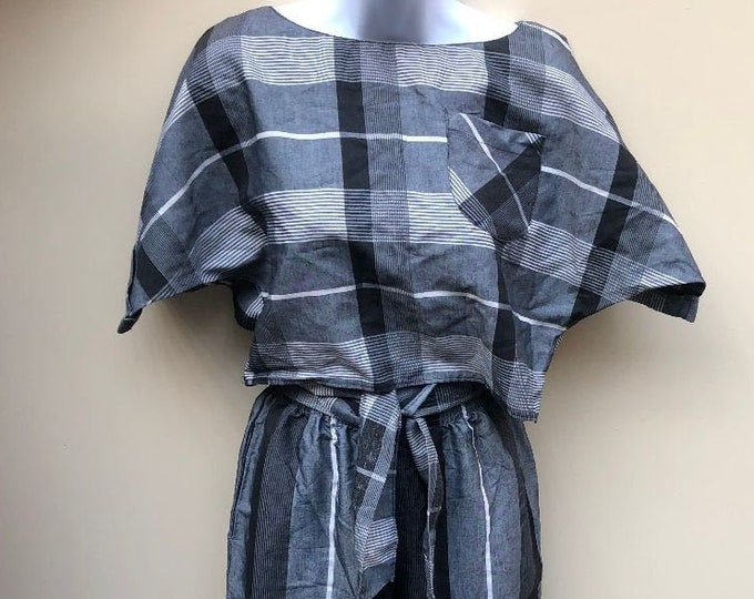 Early 80's Vintage Crop Top and Wide Leg Pants by Glover Place