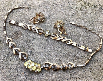 Vintage Sarah Coventry Monte Carlo Parure Necklace, Bracelet, and Earrings Set