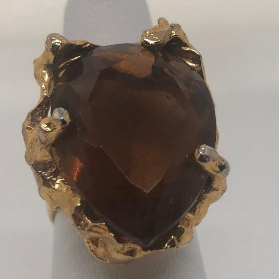 Vintage 1970's Large Statement Ring