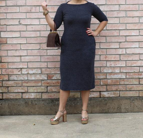 Dark Grey Terry Cloth Dress