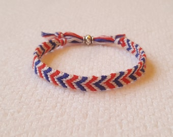 Independence Day Jewelry Ethnic Bracelet July 4th Gift Her Bohemian Hippie Bracelet Patriotic Jewelry Memorial Day Bracelet Boho Gift