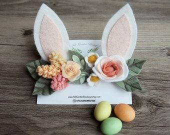 Bendable Flower Woodland Bunny Headband.