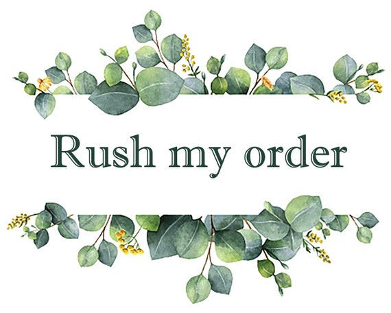 1-3 Days Production Time Rush My Order
