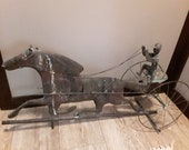 Antique Horse and Sulky Weathervane