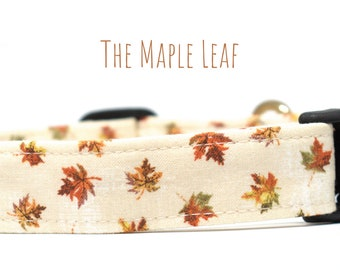 Gold Leaves Cat Collar The Unbe-leaf-able