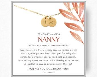 Nanny Gift Necklace \u2022 Nanny Thank You Gift \u2022\u00a0Nanny Goodbye Gift \u2022\u00a0Babysitter Gift \u2022 Thank You Gift \u2022\u00a0Au Pair Gift