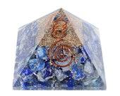Lapis Lazuli Orgone Pyramid Chakra Balancing Reiki Healing Aura Cleansing Stone Size 2.5-3 Inch