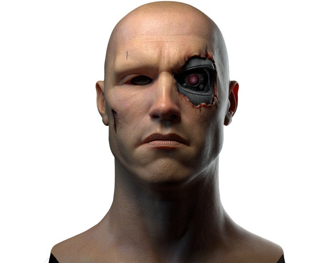 Silicone Mask | Arnold Terminator Halloween Mask