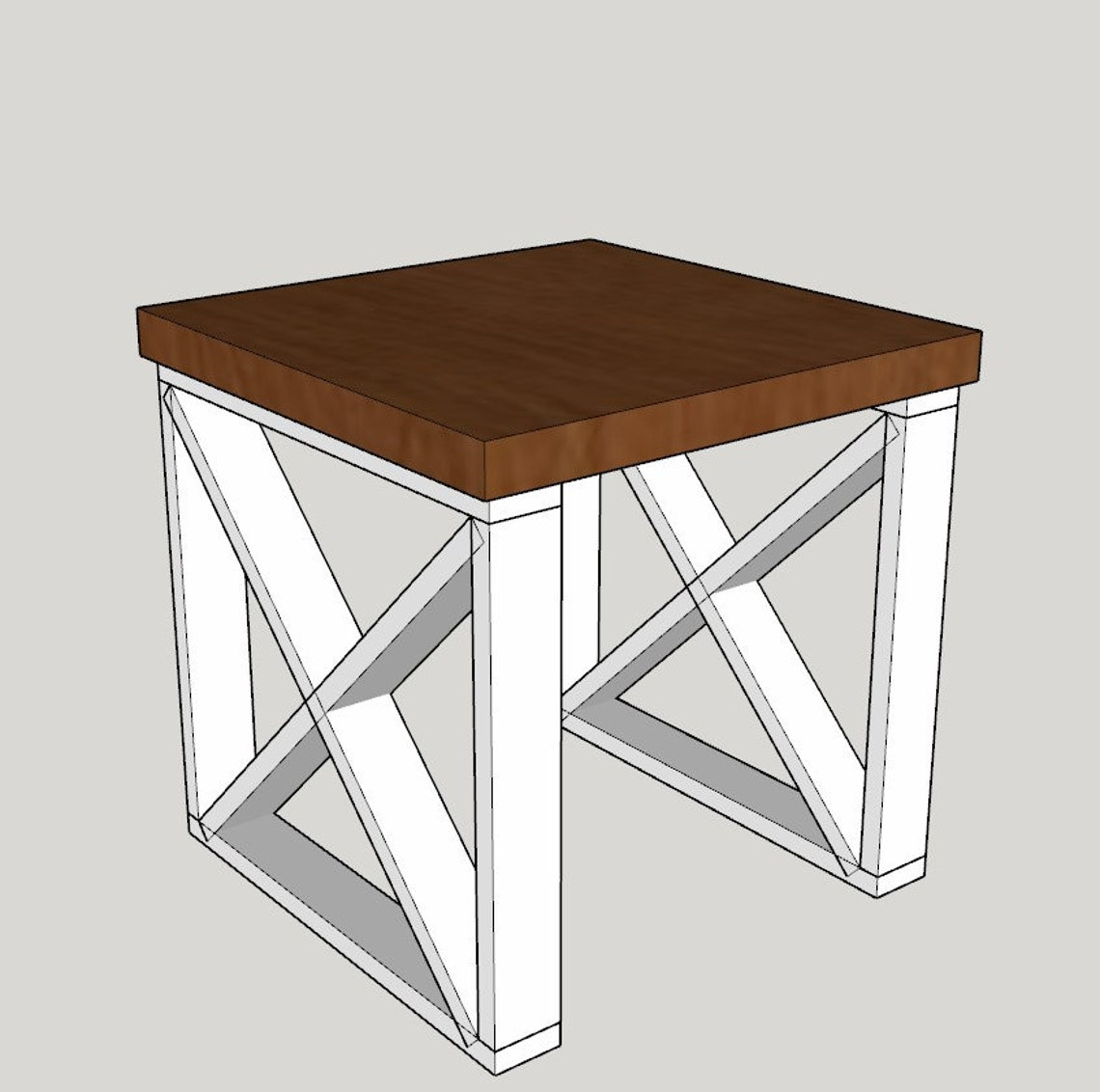 Farmhouse side table / night stand
