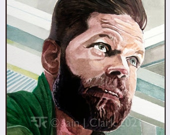 Amos (Wes Chatham) - PRINT - Giclée print of my original artwork
