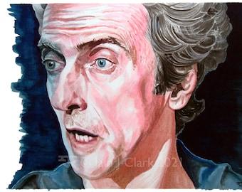 Peter Capaldi - PRINT - Giclée print of my original artwork