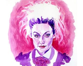 Missy (Michelle Gomez) - PRINT - Giclée print of my original painting
