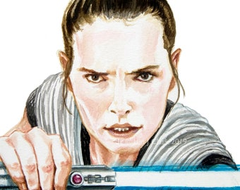 Rey (Daisy Ridley) - PRINT - Giclée print of my original artwork