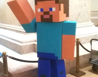 Minecraft Costume Steve Alex Creeper Zombie Mario and more! Halloween mascot cosplay
