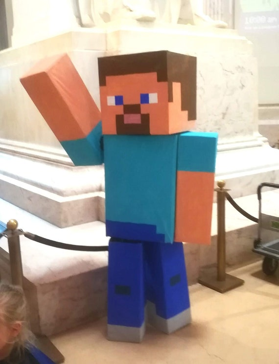 Minecraft Costume Steve Alex Creeper Zombie Mario And More Etsy