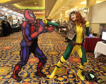 Spider-Man Cosplay 8bit Marvel Pixel Maximum Carnage Pixelated Costume Spidey Avengers Far From Home Homecoming Cinematic Universe Halloween