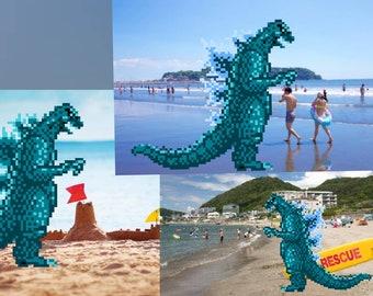 Godzilla 8-bit costume