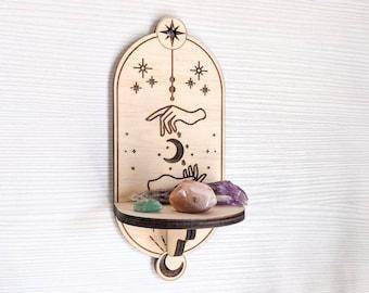 Small crystal shelf / altar shelf