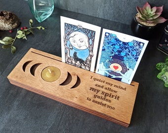 Moon phases oracle / tarot card stand / holder