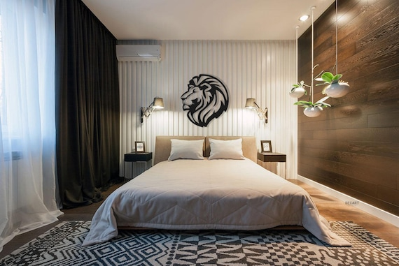 "Home wall decoration ""Lion"" Wood wall decor Wall hanging decorations Anniversary gift Wedding present"