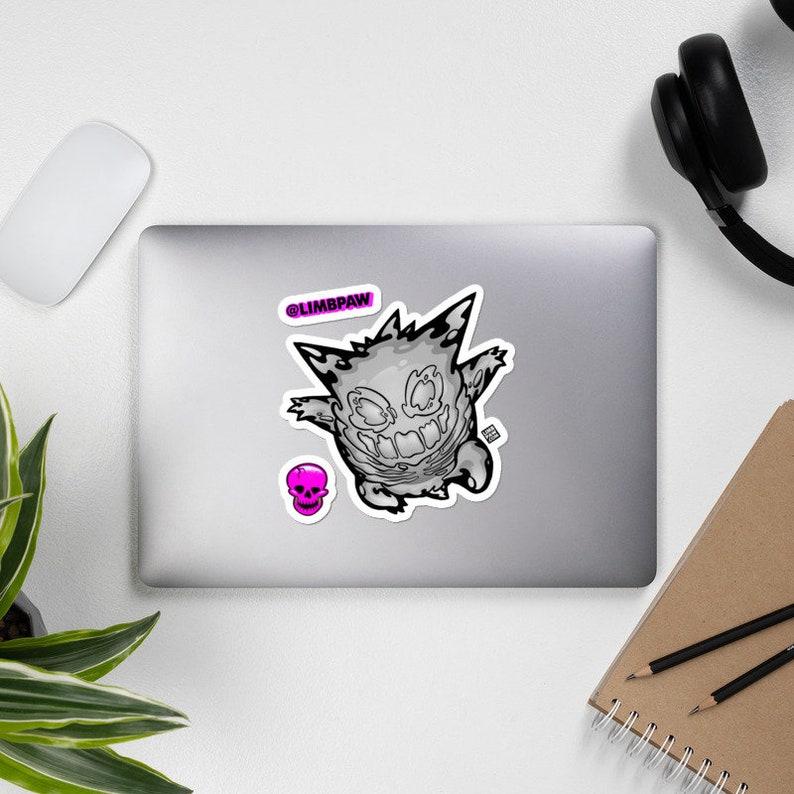 094  Pokemon Skeleton Gengar  JUMBO Vinyl Sticker Kit image 0