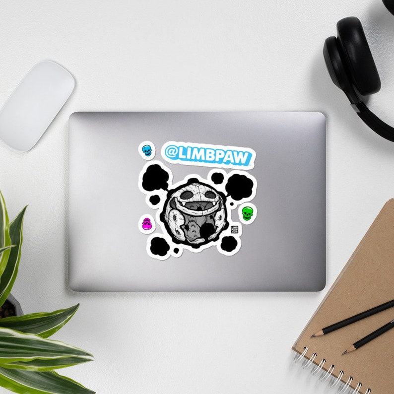 109  Pokemon Skeleton Koffing  JUMBO Vinyl Sticker Kit image 0