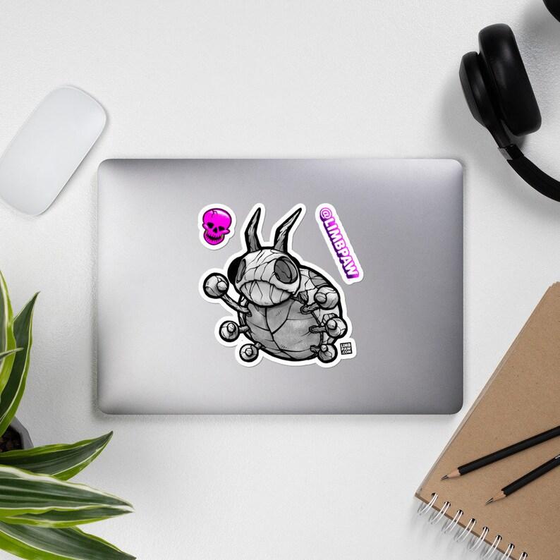 165  Pokemon Ledyba Skeleton  JUMBO Vinyl Sticker Kit image 0