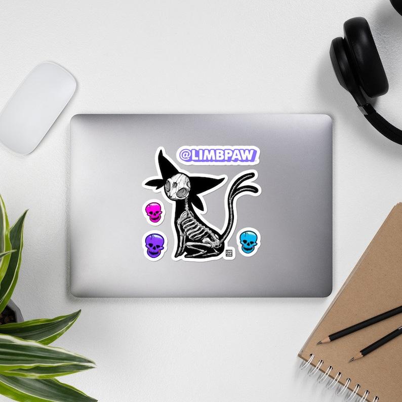 196  Pokemon Espeon Skeleton  JUMBO Vinyl Sticker Kit image 0