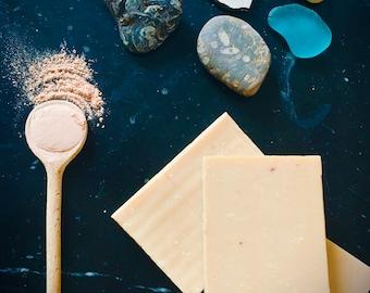 Pink Clay and Orange soap - Handmade soap - vegan soap - Glow Soap