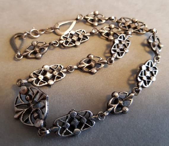 Antique Victorian Silver Paste Riviere Necklace F… - image 8