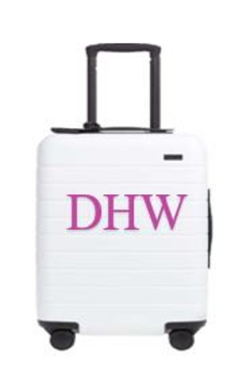 Initial Letter Suitcase  Sticker up to 3 characters