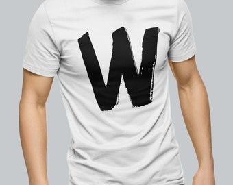 6509967ed Mens Alphabet W T-Shirt lettering typography t shirt mens womens stag hen  do holiday tshirt graphic tee men's women's print design retro