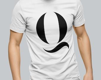 e9627f8a Alphabet Q Unisex T Shirt lettering typography t-shirt mens womens stag hen  do holiday tshirt graphic tee men's women's print design retro