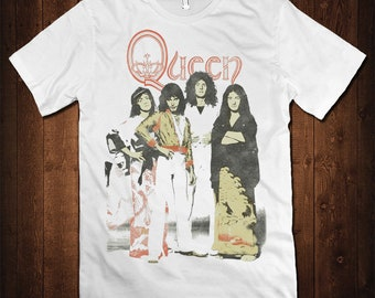 300b6cfa45 Queen Band Vintage T-Shirt, Freddie Mercury Rock Shirt, Men's Women's All  Sizes