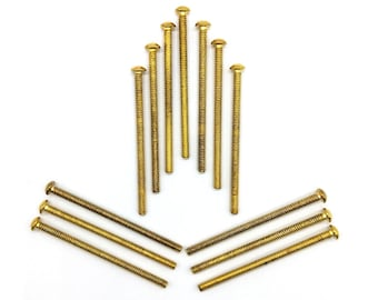 Additional 3 inch Longer Screws in Brass and Chrome Color for Your Door Knobs / Cabinet Knobs  / Hardware for your Knobs