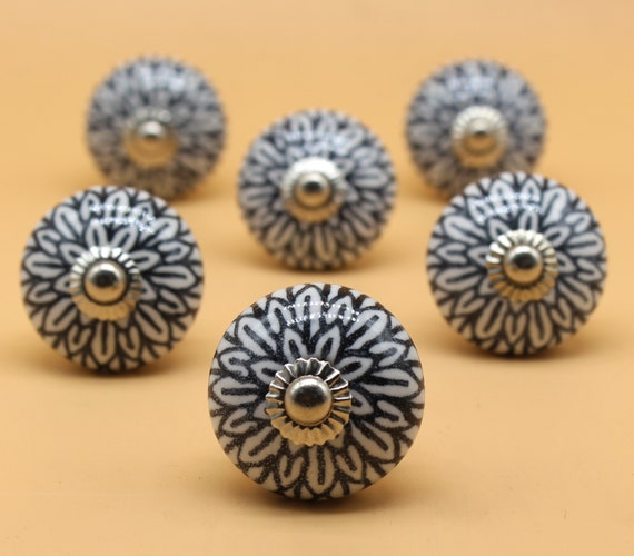 Brilliantly Hand Painted Ceramic Knobs, Hand Painted Ceramic Cabinet Knobs