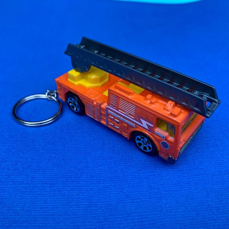 Fire Truck Flame Tamer Hot Wheels Keychain Keyring
