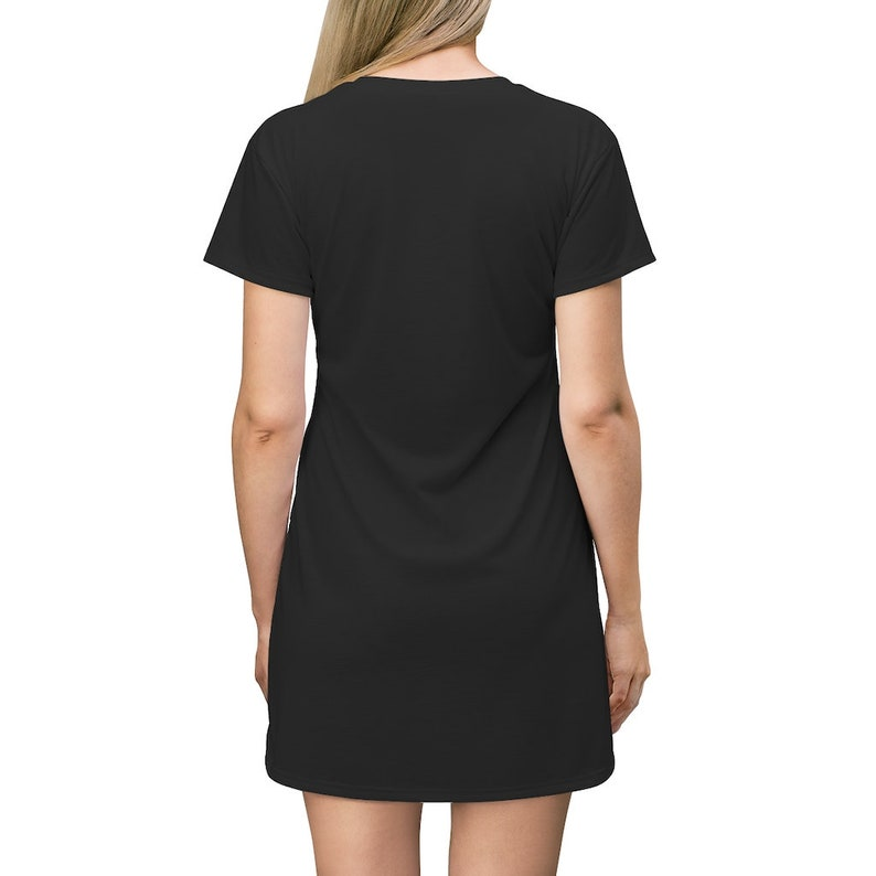 MeraKi/'s Essentials Celestial Wolf Black Shirt Dress Pajama Top