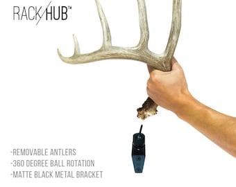 f0a2e5e4bdfc RACK HUB™ RH1 / antler mount / shed antler display / trophy mount / deer  antlers / deer taxidermy / antler decor