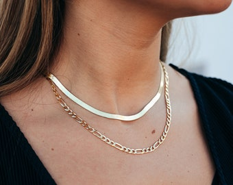 Baguette Gemstone Choker Singapore Chain Choker Necklace 925 Solid Sterling Silver 14K Gold Vermeil Layering Necklace Herringbone Chain