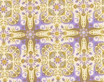 By 1//2 Yard ~ RJR Fabric Sultan/'s Garden by Mary McGuire ~ Cornflowers in Golden